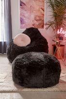 Urban Outfitters Aspyn Faux Fur Shag Ottoman