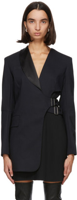 Sportmax Navy Wool Zufolo Blazer Dress