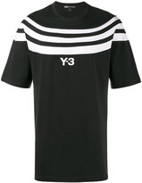 Y-3 logo T-shirt with three stripes - men - Cotton - M