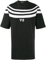 Y-3 logo T-shirt with three stripes - men - Cotton - M