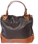 Florence Leather Market Handbag with double handle in soft leather 8005