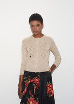 Simone Rocha Beaded Flower Cardigan
