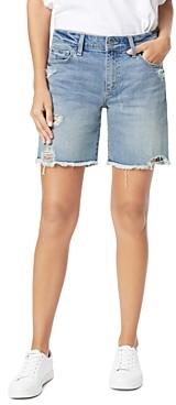 Joe's Jeans Frayed Denim Bermuda Shorts in Shasta