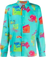 Paul Smith flying saucer print shirt