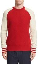Rag & Bone Men's Liam Merino Wool Varsity Sweater