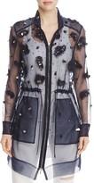Elie Tahari Nicolette Embellished Drawstring Jacket