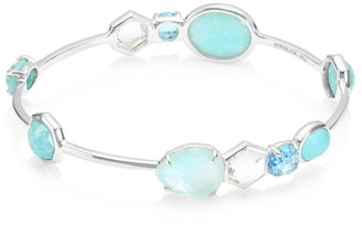 Ippolita Rock Candy Sterling Silver & Multi-Stone Gelato Kiss Bangle Bracelet