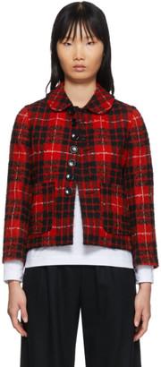 Comme des Garcons Red Tartan Jacket