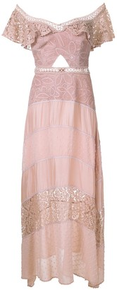Martha Medeiros Rachel lace panelled gown