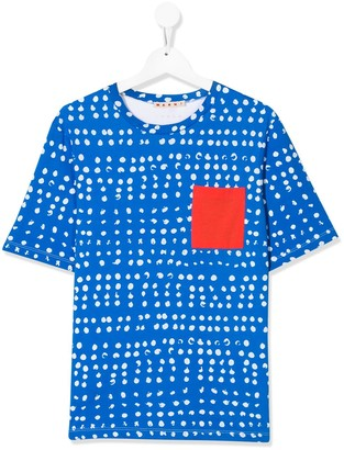 Marni TEEN patch pocket T-shirt