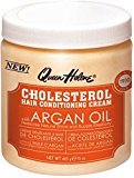 Queen Helene Cholesterol Hair Conditioning Creme Argan Oil, 15 oz (Pack of 12)