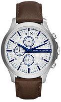Armani Exchange Hampton Chronograph Leather-Strap Watch