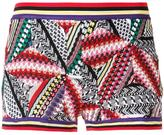 Missoni geometric knitted shorts - women - Cotton/Nylon/Viscose/polyester - 38