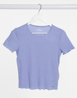 Hollister lettuce hem baby t-shirt in blue