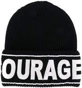 Versace Courage Manifesto beanie