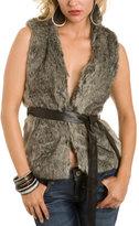 Black Faux Fur Vest