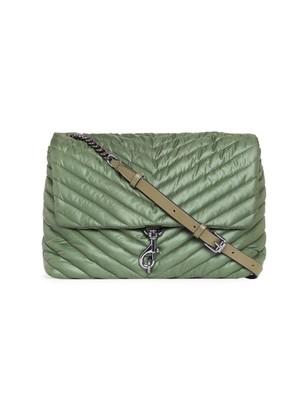 Rebecca Minkoff Jumbo Edie Quilted Nylon Shoulder Bag