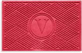 "Bed Bath & Beyond Weather GuardTM Diamonds Monogrammed ""V"" 23-Inch x 35-Inch Door Mat in Purple"
