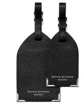 Aspinal of London Luggage Tags Black