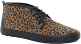 Asos Chukka Boots With Leopard Print