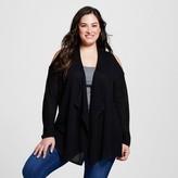 U-knit Women's Plus Size Lightweight Cold Shoulder Open Cardigan