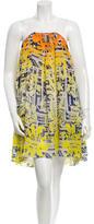 Matthew Williamson Graphic Print Silk Dress w/ Tags