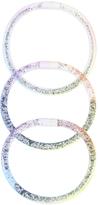 Accessorize 3x Jelly Ombre Glitter Bangles