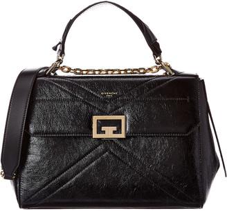 Givenchy Id Medium Crackling Leather Satchel