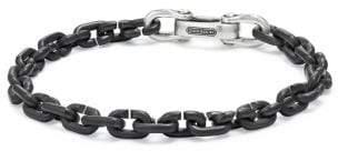 David Yurman Chain Link Narrow Bracelet With Black Titanium