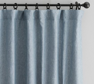 Pottery Barn Classic Belgian Flax Linen Rod Pocket Blackout Curtain - Ivory
