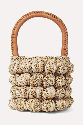 Ulla Johnson Agathe Leather-trimmed Crocheted Tote - Beige