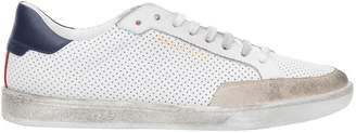Saint Laurent Classic Court In Perforated Leather Sneakers