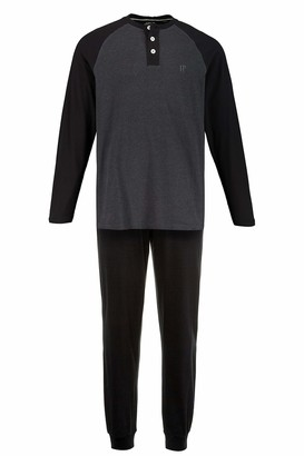JP 1880 Men's Big & Tall Pyjama Set Anthracite-Melange XXX-Large 726612 11-3XL