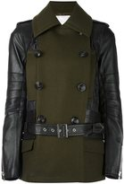 Sacai panelled quilted jacket