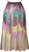 M Missoni pleated print top - women - Polyester/Viscose - 38