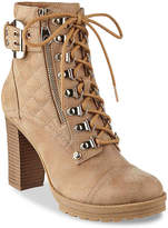 G by Guess Women's Gloss Combat Boot