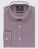 Pure Cotton Tailored Fit Textured Dobby Shirt