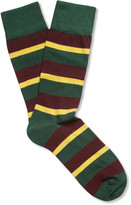 Corgi Royal Dragoon Guards Striped Cotton-Blend Socks