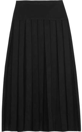 Dion Lee Paneled Georgette And Scuba-Jersey Midi Skirt