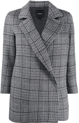 Theory Clairene double-face plaid jacket