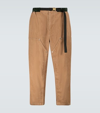 Sacai Cropped corduroy pants
