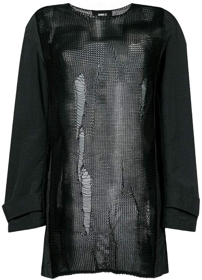 Yang Li embroidered long-sleeve top