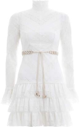 Zimmermann Veneto Perennial Short Dress