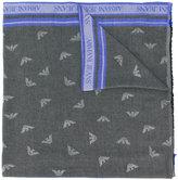 Armani Jeans logo printed scarf