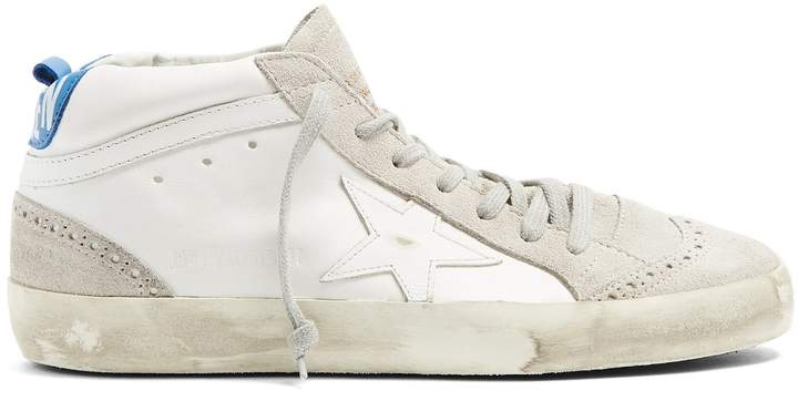 Golden Goose Mid Star mid-top leather trainers
