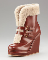Marc by Marc Jacobs Faux-Shearling Buckle Boot