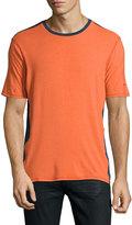 Revo Short-Sleeve Crewneck Jersey Tee, Solar Orange/Dark Navy