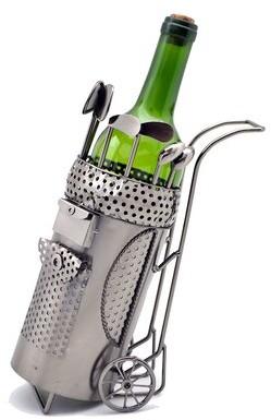 Mercer41 Prine Golf Bag 1 Bottle Tabletop Wine Bottle Rack