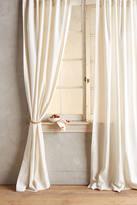 Anthropologie Linen Tie-Top Curtain