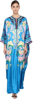 Emilio Pucci Printed Silk Twill Caftan Dress